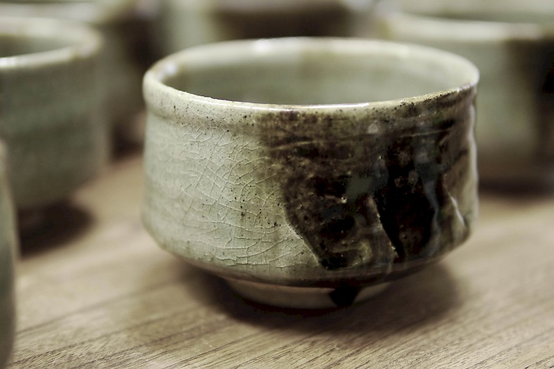 Chawan (Matcha bowl) created for the exhibitions 2018 by KATO Juunidai